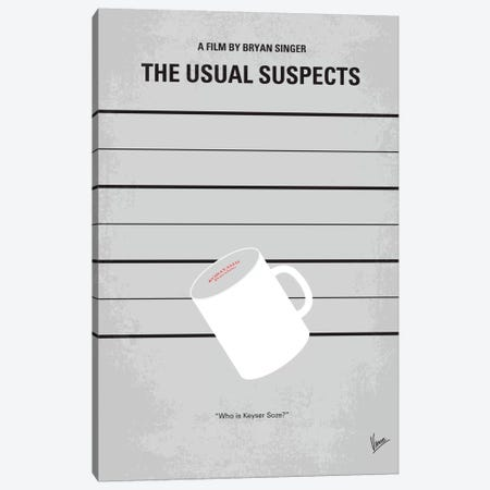 The Usual Suspects Minimal Movie Poster Canvas Print #CKG110} by Chungkong Canvas Art Print