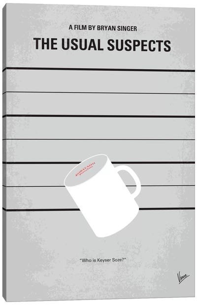 The Usual Suspects Minimal Movie Poster by Chungkong - Minimalist Movie Posters Canvas Art Print