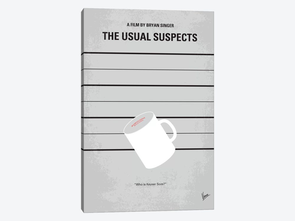 The Usual Suspects Minimal Movie Poster by Chungkong 1-piece Canvas Print