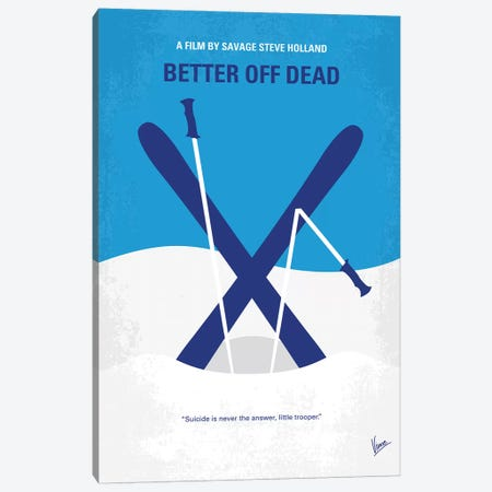 Better Off Dead Minimal Movie Poster Canvas Print #CKG1110} by Chungkong Canvas Art