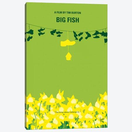 Big Fish Minimal Movie Poster Canvas Print #CKG1111} by Chungkong Canvas Art