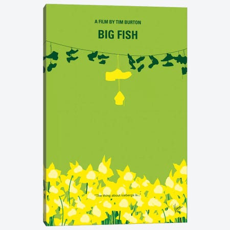 Big Fish Minimal Movie Poster Canvas Print #CKG1111} by Chungkong Canvas Art
