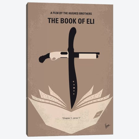 Book Of Eli Minimal Movie Poster Canvas Print #CKG1113} by Chungkong Canvas Wall Art