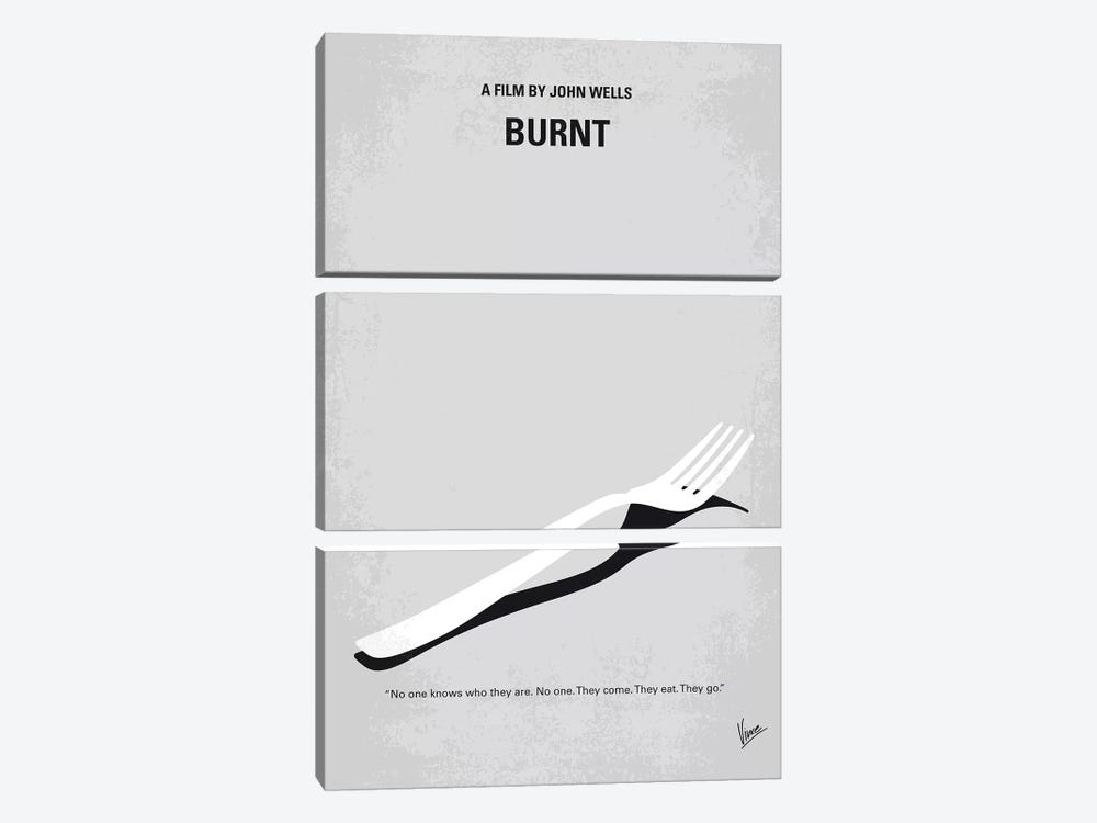 Burnt Minimal Movie Poster by Chungkong 3-piece Canvas Print