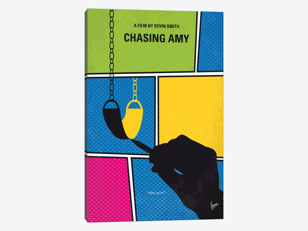Chasing Amy Minimal Movie Poster 1-piece Canvas Art Print