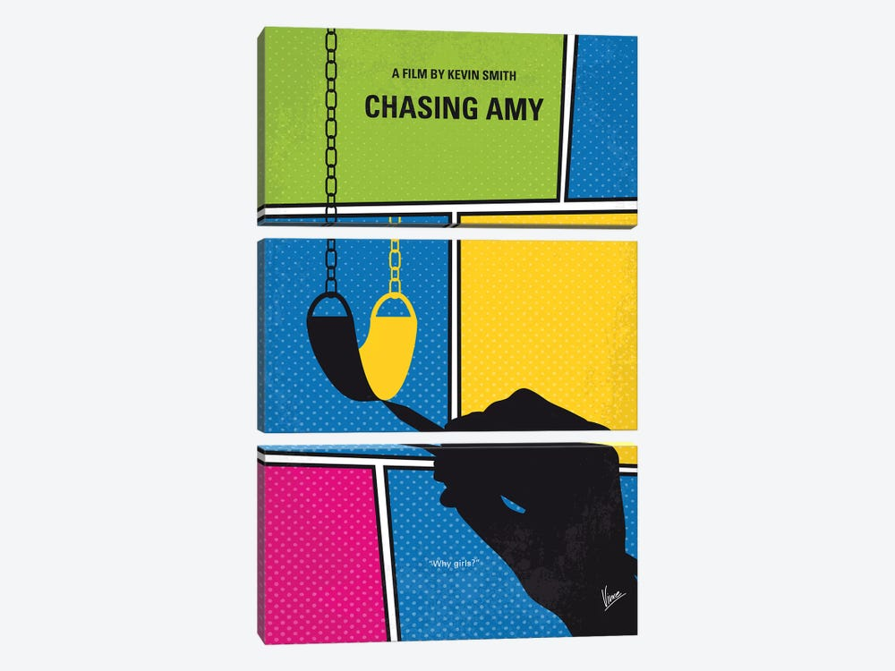 Chasing Amy Minimal Movie Poster 3-piece Art Print