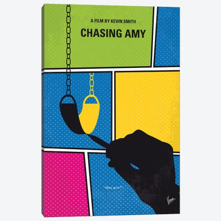 Chasing Amy Minimal Movie Poster Canvas Print #CKG1116} by Chungkong Canvas Print