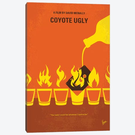 Coyote Ugly Minimal Movie Poster Canvas Print #CKG1117} by Chungkong Canvas Print