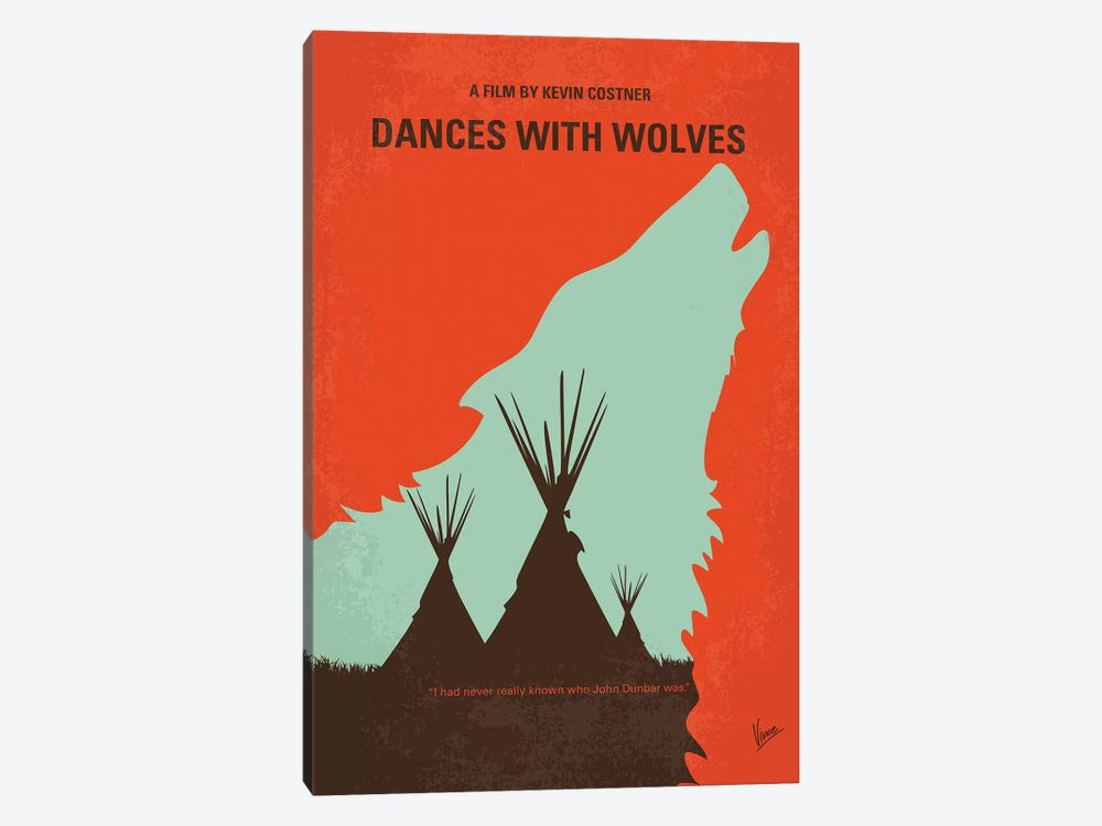 Dances With Wolves Minimal Movie Poster by Chungkong 1-piece Art Print