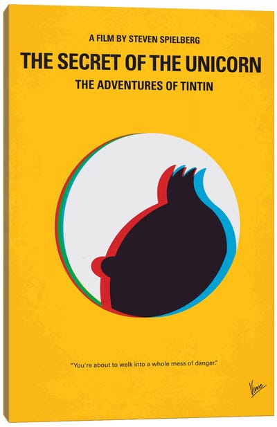 The Adventures Of Tintin: The Secret Of The Unicorn Minimal Movie Poster Canvas Art Print