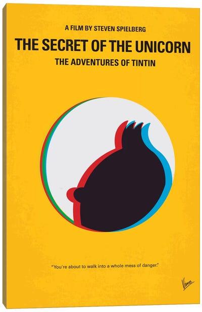 The Adventures Of Tintin: The Secret Of The Unicorn Minimal Movie Poster Canvas Art Print