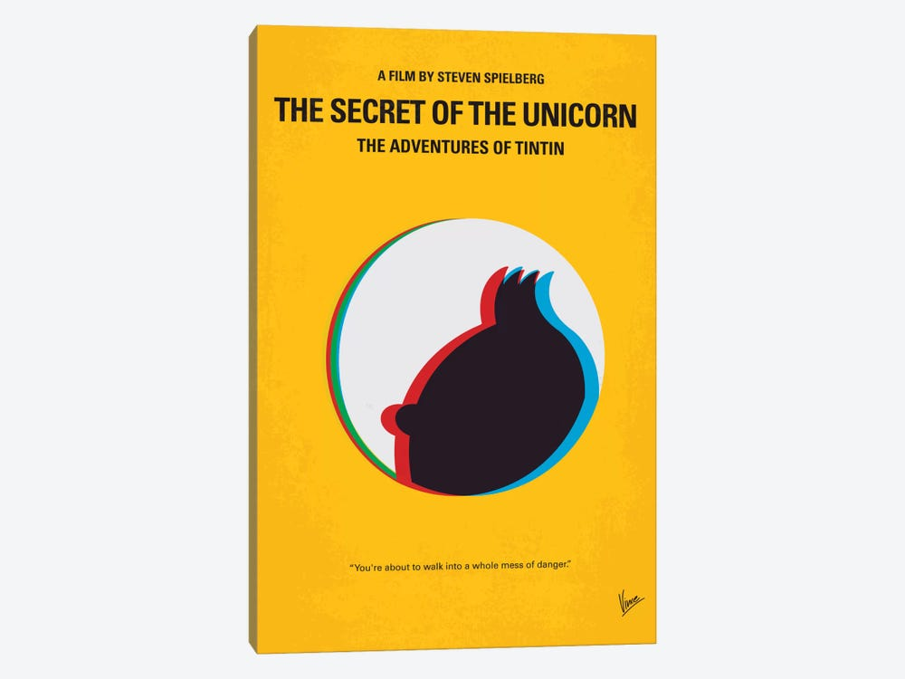 The Adventures Of Tintin: The Secret Of The Unicorn Minimal Movie Poster by Chungkong 1-piece Canvas Art