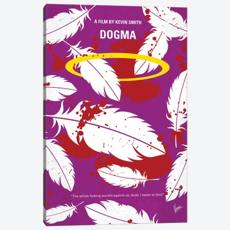 Dogma Minimal Movie Poster Canvas Print #CKG1120} by Chungkong Art Print