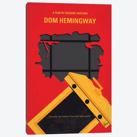Dom Hemingway Minimal Movie Poster Canvas Print #CKG1121} by Chungkong Canvas Print