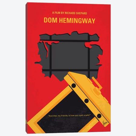 Dom Hemingway Minimal Movie Poster Canvas Print #CKG1121} by Chungkong Canvas Print
