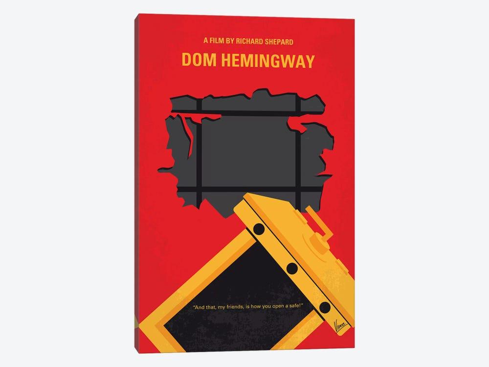 Dom Hemingway Minimal Movie Poster by Chungkong 1-piece Canvas Art Print