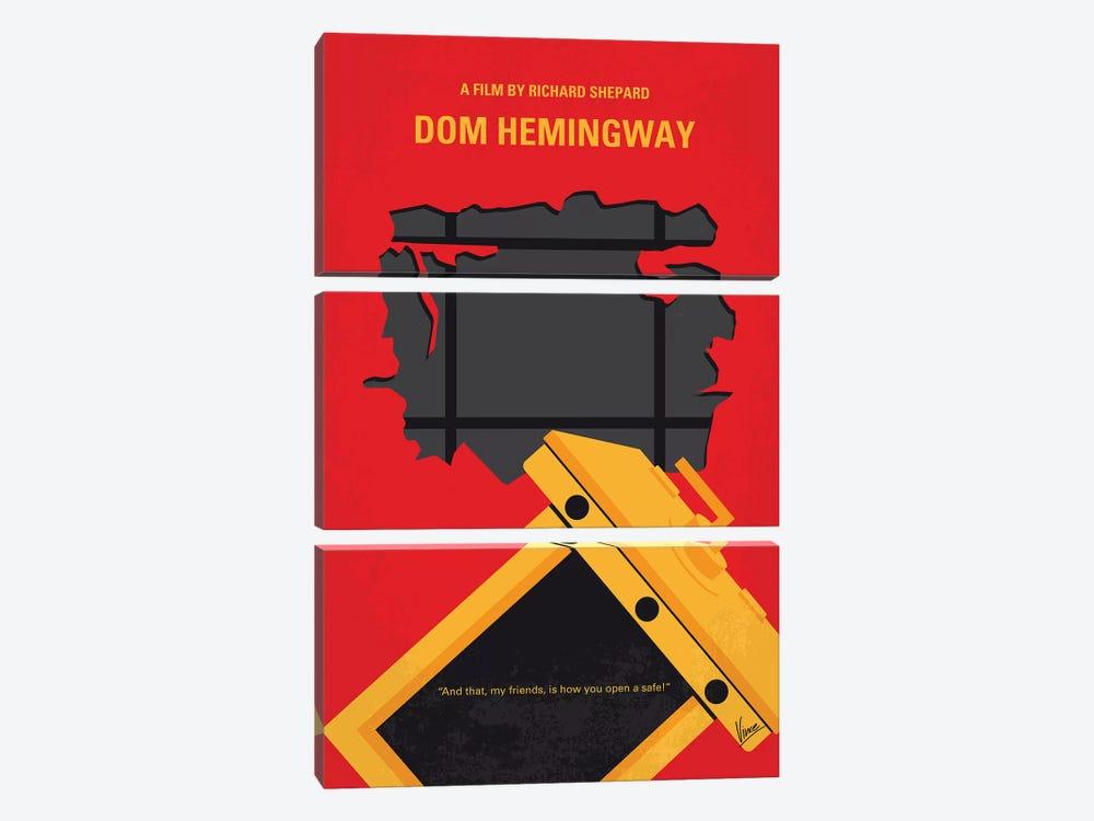 Dom Hemingway Minimal Movie Poster by Chungkong 3-piece Art Print