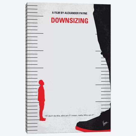 Downsizing Minimal Movie Poster Canvas Print #CKG1122} by Chungkong Art Print
