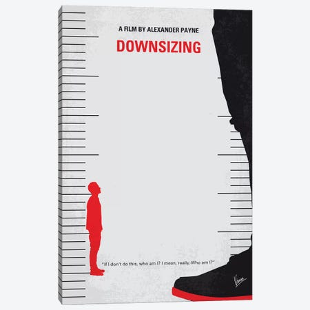 Downsizing Minimal Movie Poster Canvas Print #CKG1122} by Chungkong Art Print