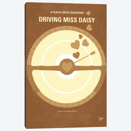 Driving Miss Daisy Minimal Movie Poster Canvas Print #CKG1123} by Chungkong Art Print