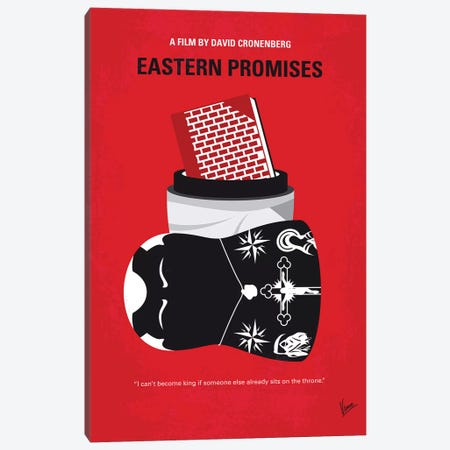 Eastern Promises Minimal Movie Poster Canvas Print #CKG1124} by Chungkong Canvas Art