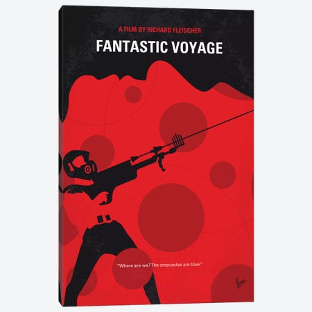 Fantastic Voyage Minimal Movie Poster Canvas Print #CKG1127} by Chungkong Canvas Wall Art