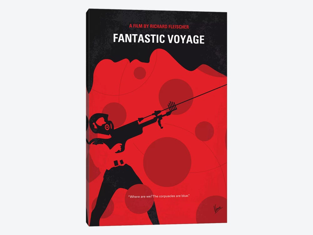 Fantastic Voyage Minimal Movie Poster by Chungkong 1-piece Canvas Print