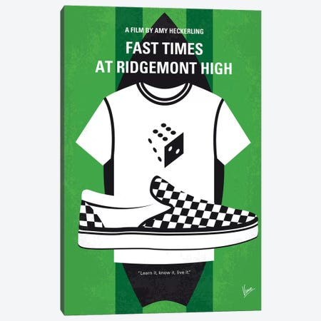 Fast Times At Ridgemont High Minimal Movie Poster Canvas Print #CKG1128} by Chungkong Canvas Print