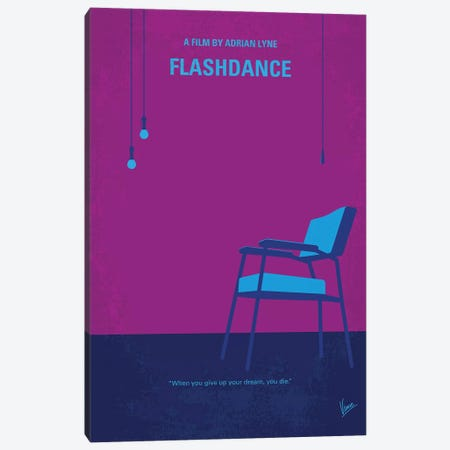 Flashdance Minimal Movie Poster Canvas Print #CKG1129} by Chungkong Canvas Art Print