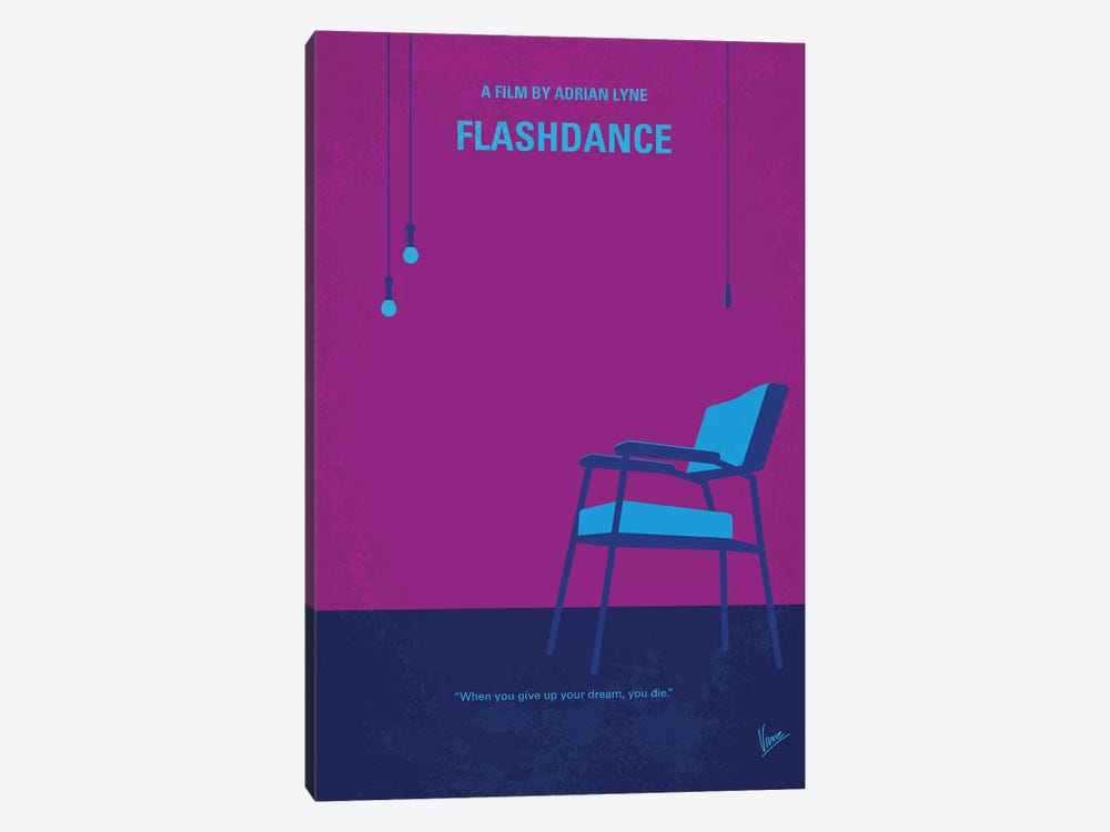 Flashdance Minimal Movie Poster by Chungkong 1-piece Art Print