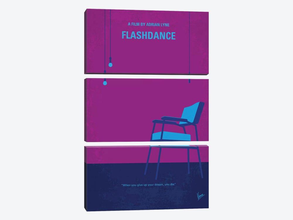 Flashdance Minimal Movie Poster by Chungkong 3-piece Canvas Art Print