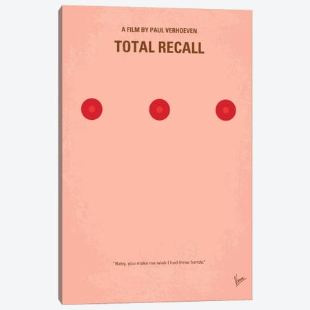 Total Recall Minimal Movie Poster Canvas Print #CKG112} by Chungkong Canvas Print