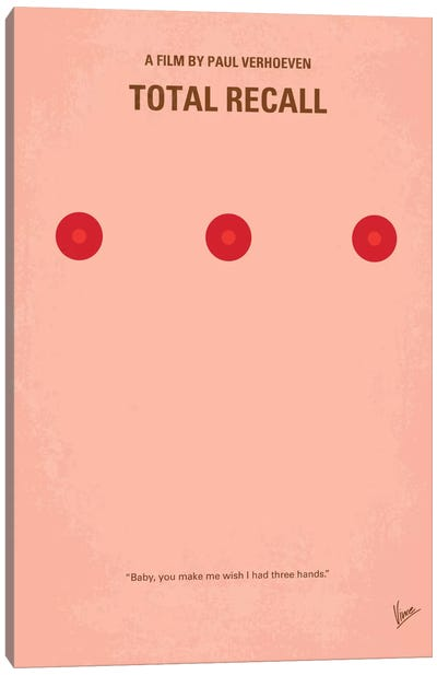 Total Recall Minimal Movie Poster Canvas Art Print