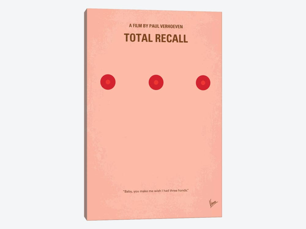 Total Recall Minimal Movie Poster by Chungkong 1-piece Canvas Print