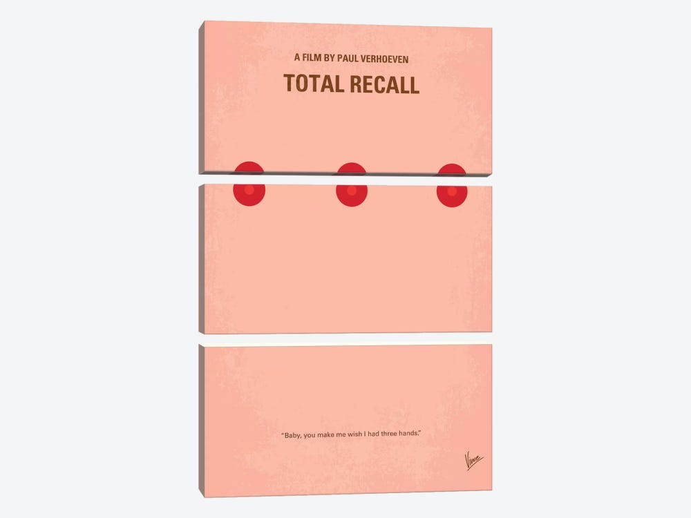 Total Recall Minimal Movie Poster by Chungkong 3-piece Art Print