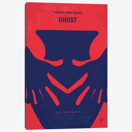 Ghost Minimal Movie Poster Canvas Print #CKG1131} by Chungkong Canvas Artwork