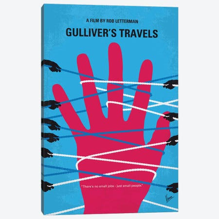 Gullivers Travels Minimal Movie Poster 3-Piece Canvas #CKG1132} by Chungkong Canvas Artwork