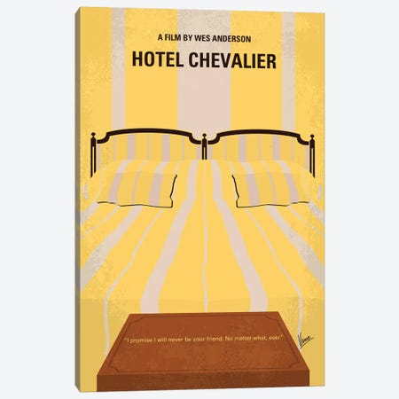 Hotel Chevalier Minimal Movie Poster Canvas Print #CKG1133} by Chungkong Canvas Artwork