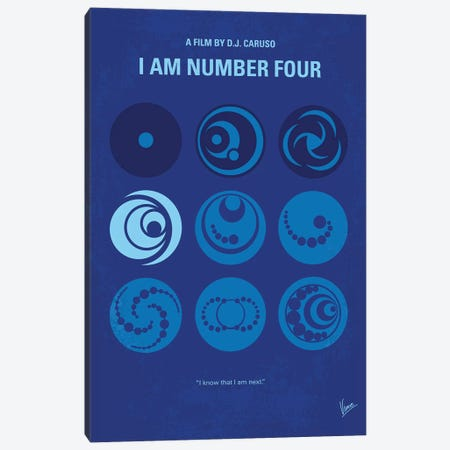 I Am Number Four Minimal Movie Poster Canvas Print #CKG1134} by Chungkong Canvas Print