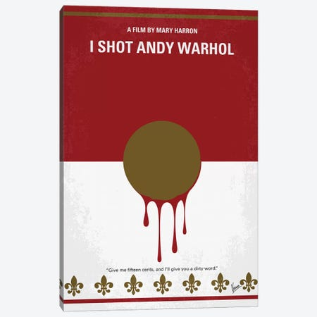 I Shot Andy Warhol Minimal Movie Poster Canvas Print #CKG1135} by Chungkong Canvas Print