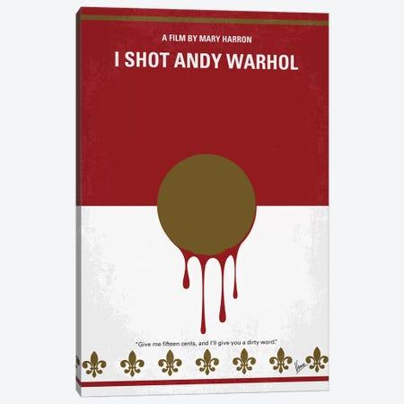 I Shot Andy Warhol Minimal Movie Poster Canvas Print #CKG1135} by Chungkong Canvas Print