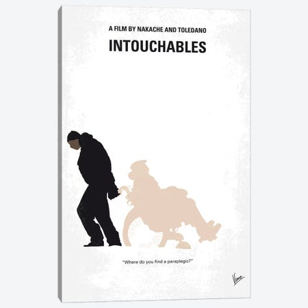 Intouchables Minimal Movie Poster 3-Piece Canvas #CKG1137} by Chungkong Canvas Art Print