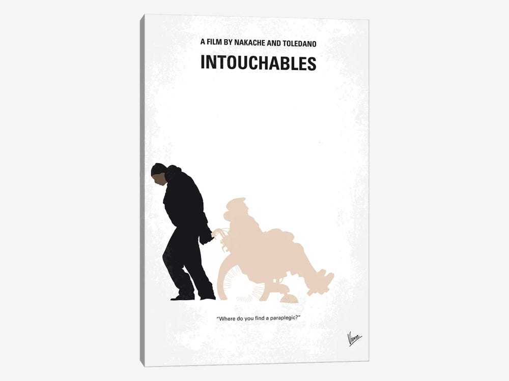 Intouchables Minimal Movie Poster by Chungkong 1-piece Canvas Artwork
