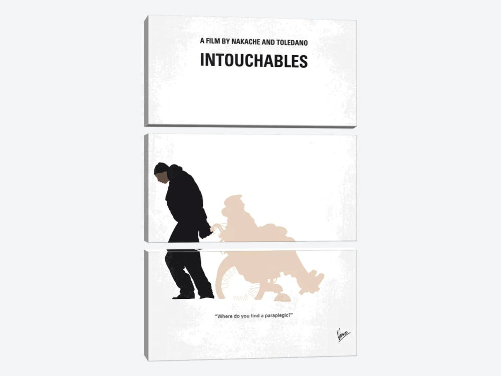 Intouchables Minimal Movie Poster by Chungkong 3-piece Canvas Wall Art