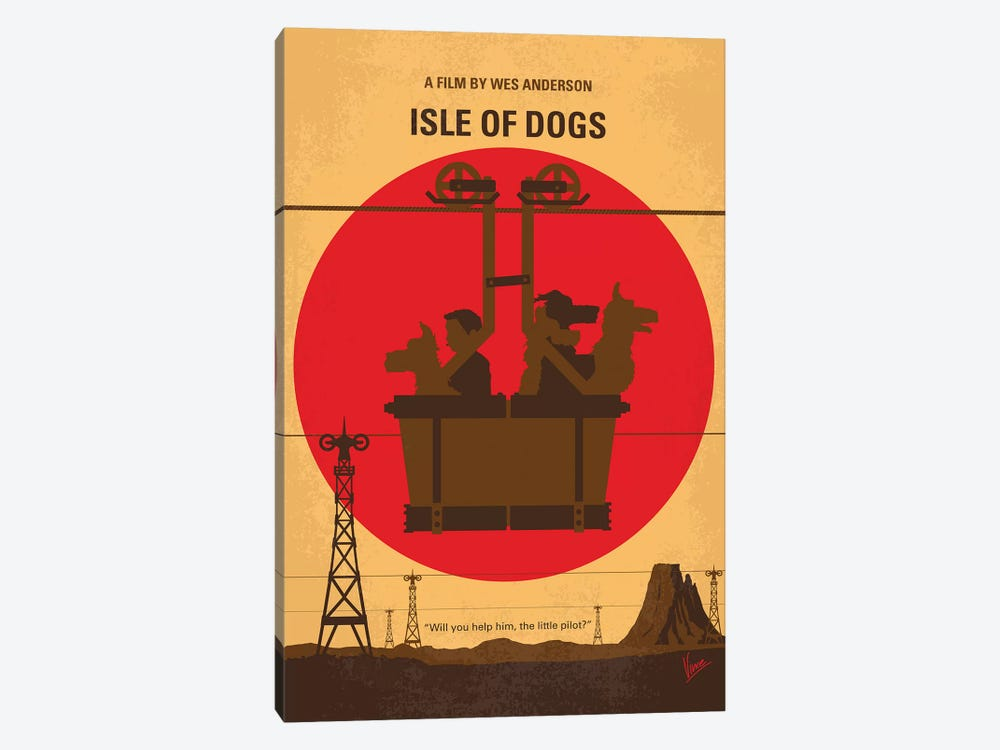 Isle Of Dogs Minimal Movie Poster by Chungkong 1-piece Canvas Print