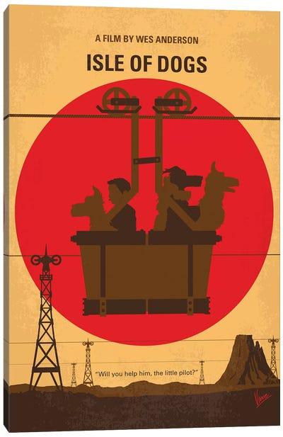 Isle Of Dogs Minimal Movie Poster Canvas Art Print