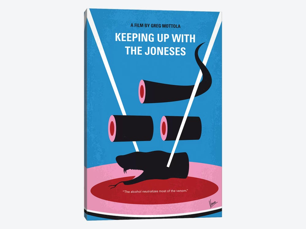 Keeping Up With The Joneses Minimal Movie Poster by Chungkong 1-piece Canvas Artwork