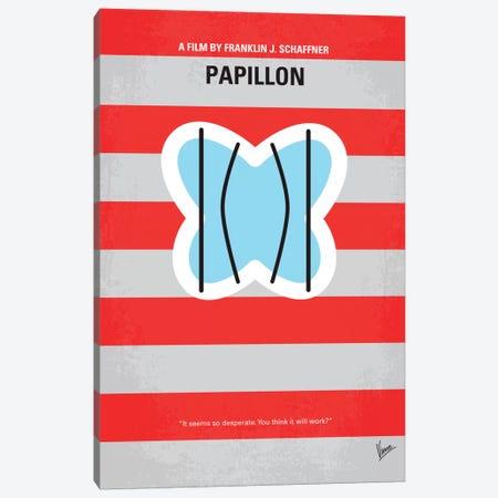 Papillon Minimal Movie Poster Canvas Print #CKG113} by Chungkong Art Print