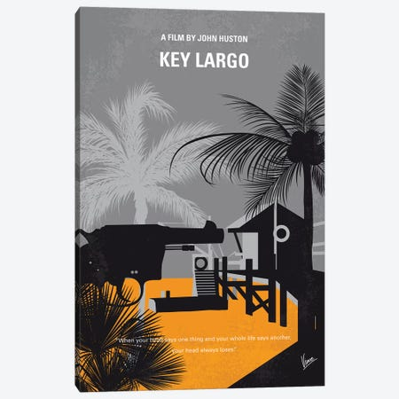 Key Largo Minimal Movie Poster Canvas Print #CKG1140} by Chungkong Canvas Art Print