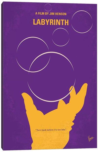 Labyrinth Minimal Movie Poster Canvas Art Print